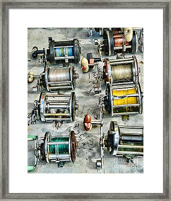 Fishing - Fishing Reels Framed Print by Paul Ward