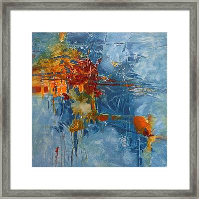 Fishing For Gold Abstract Framed Print by Donna Shortt