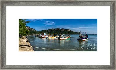 Fishing Harbour Framed Print by Adrian Evans