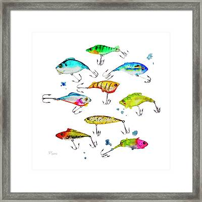 Fishing Is Fly No4 Framed Print by Roleen  Senic