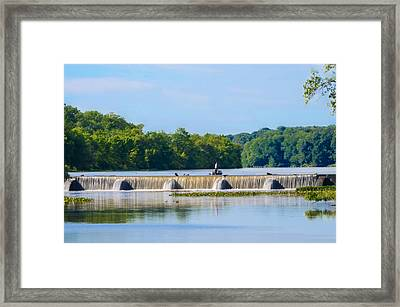 Fishing On The Millstone River - Kingston New Jersey Framed Print by Bill Cannon