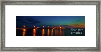 Fishing Pier At Twilight Framed Print by Felix Lai