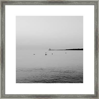 Fishing Framed Print by Stelios Kleanthous