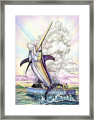 Fishing Swordfish Framed Print by Terry  Fox