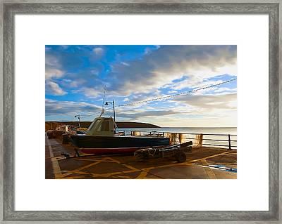 Fishing Village Filey Framed Print by Svetlana Sewell