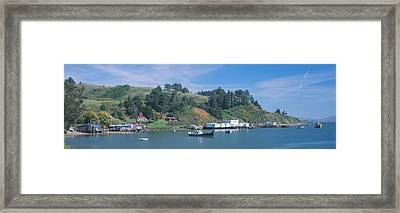Fishing Village In Spring Along Highway Framed Print by Panoramic Images