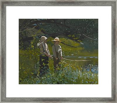 Fishing Framed Print by Winslow Homer