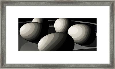 Five Eggs  Framed Print by James Barnes