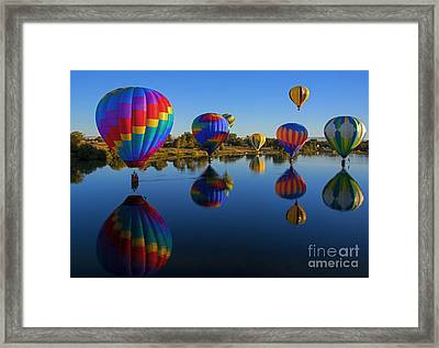 Five On The Water Framed Print by Mike Dawson