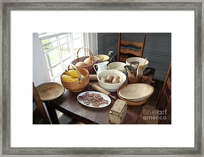 Fixin Supper Framed Print by Joy Tudor