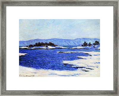 Fjord At Christiania Framed Print by Claude Monet