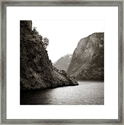 Fjord Beauty Framed Print by Dave Bowman