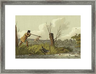 Flacker Shooting Framed Print by Henry Thomas Alken