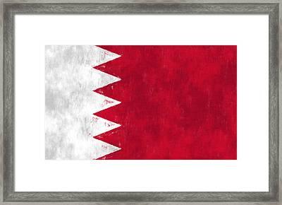 Flag Of Bahrain Framed Print by World Art Prints And Designs