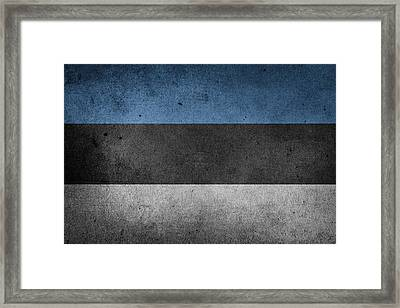 Flag Of Estonia Framed Print by FL collection