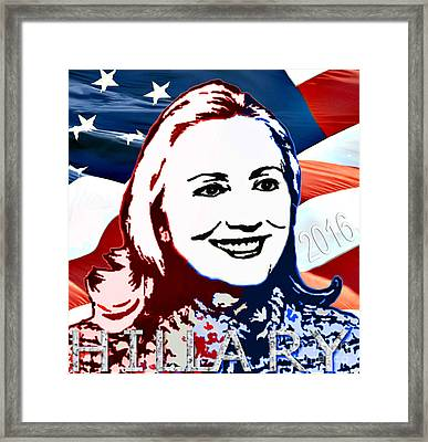Flag Of Hillary Framed Print by Jost Houk