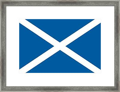 Flag Of Scotland Framed Print by Unknown