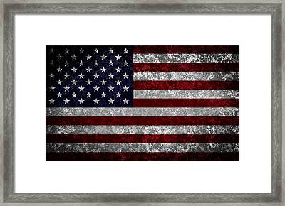 Flag Of The United States Framed Print by Martin Capek