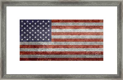 Flag Of The United States Of America  Vintage Retro Version Framed Print by Bruce Stanfield