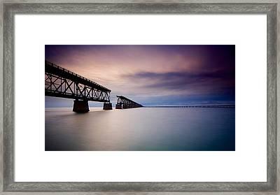 Flagler Bridge Bahia Honda Framed Print by Mark Reinnoldt