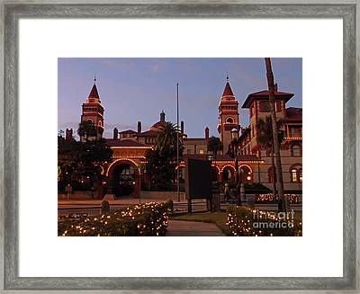 Flagler College Night Of Lights Framed Print by D Hackett