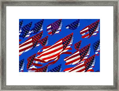 Flags American Framed Print by David Lee Thompson