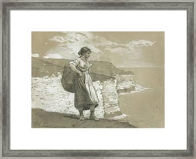 Flamborough Head, England Framed Print by Winslow Homer