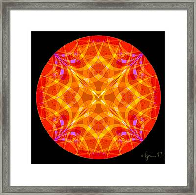Flame Framed Print by Angela Treat Lyon