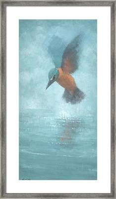 Flame In The Mist Framed Print by Steve Mitchell