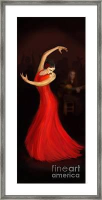 Flamenco Dancer Framed Print by John Edwards