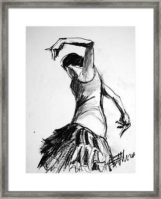 Flamenco Sketch 2 Framed Print by Mona Edulesco