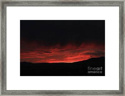 Flames In The Sky Framed Print by Carolyn Brown