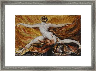 Flames Of Furious Desires Framed Print by William Blake