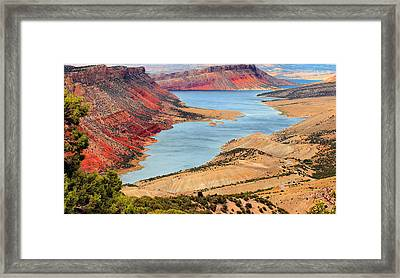 Flaming Gorge Framed Print by Kristin Elmquist
