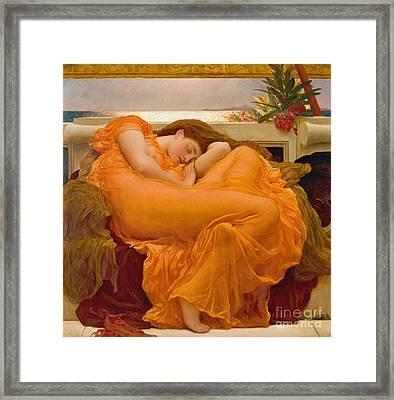 Flaming June 1895 Framed Print by Padre Art