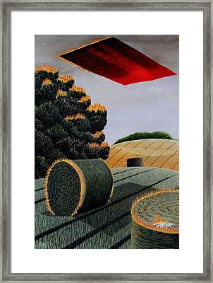 Flaming Magic Carpet Landscape Ride Framed Print by Adrian Jones