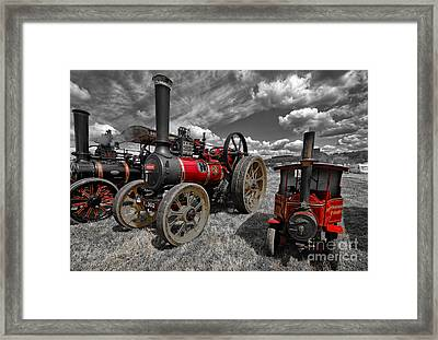 Flaming Red Framed Print by Stephen Smith