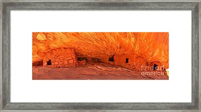 Flaming Ruins Panorama Framed Print by Adam Jewell