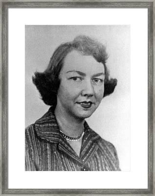 Flannery Oconnor, 1950s Framed Print by Everett