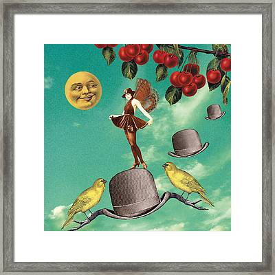 Man In The Moon Framed Print featuring the digital art Flapper by Olga Snell