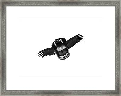 Flappy Mouth Framed Print by Nicholas Ely