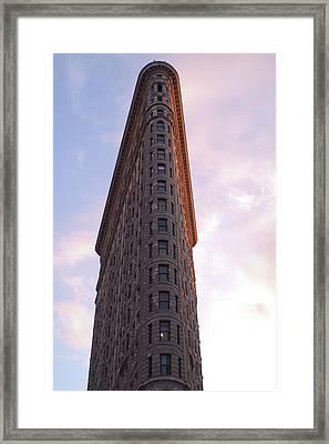 Flat Iron Building Framed Print by Henri Irizarri