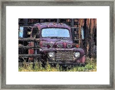 Flatbed Ford Framed Print by Everett Bowers