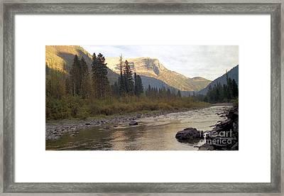 Flathead River Framed Print by Richard Rizzo