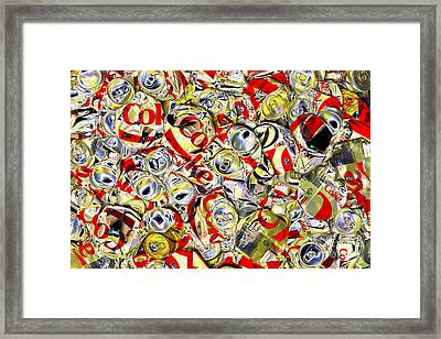 Flattened Coke Cans Framed Print by Paul W Faust - Impressions of Light