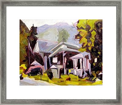 Flea Market In The Poconos Framed Print by Charlie Spear