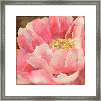 Fleeting Glory - Peony Framed Print by Audrey Jeanne Roberts