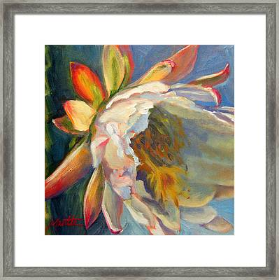Fleeting Jewel Framed Print by Athena  Mantle