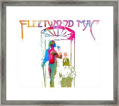 Fleetwood Mac Album Cover Watercolor Framed Print by Dan Sproul