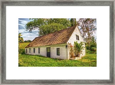 Flemish Cottage Framed Print by Wim Lanclus